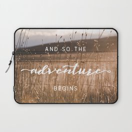And So The Adventure Begins - Rustic Western Laptop Sleeve