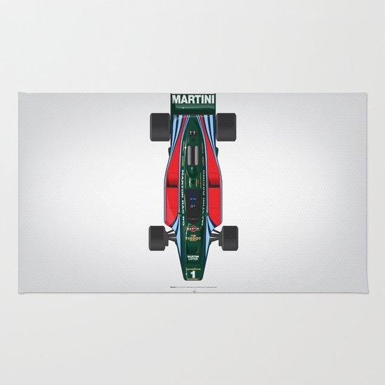 Outline Series N.º2, Mario Andretti, Lotus 80-Ford 1980 Rug