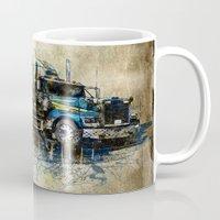 truck Mugs featuring Truck by Svetlana Sewell