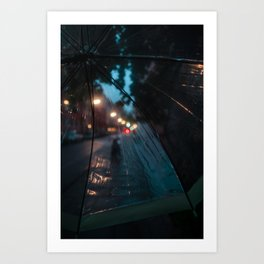 Life through an Umbrella. Art Print
