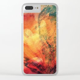 A leaf In The Wood Aflame Abstract Clear iPhone Case