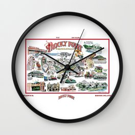 Rocky Point Amusement Park, Warwick, Rhode Island History Art Wall Clock