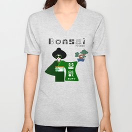 Japanese BONSAI Lovers Unisex V-Neck