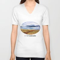 feet V-neck T-shirts featuring 13,000 Feet by Chris Root