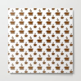 Coffee Cup Pattern Metal Print