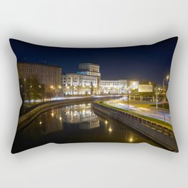 Russia Bauman Moscow State Technical University Canal night time Street lights Cities Building Night Houses Rectangular Pillow