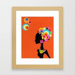 Big, Bright, Bold HAIR! Framed Art Print