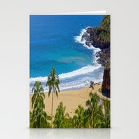 hawaiian Stationery Cards featuring Hawaiian beach by Ricarda Balistreri