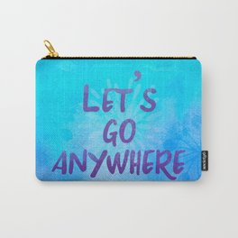 Let's go Anywhere - Boho Wanderlust Watercolor Carry-All Pouch