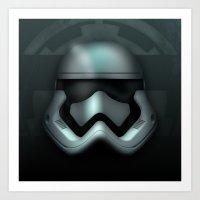 Icon Series 1: (Far Far Away 1/3) Stormtrooper Helmet Redesign. Art Print