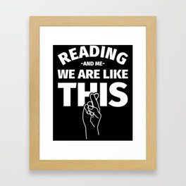 Bookworm Gifts For Reading Lovers Framed Art Print