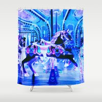 carousel Shower Curtains featuring Carousel by WhimsyRomance&Fun