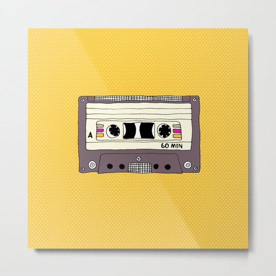 Polka dot cassette tape Metal Print