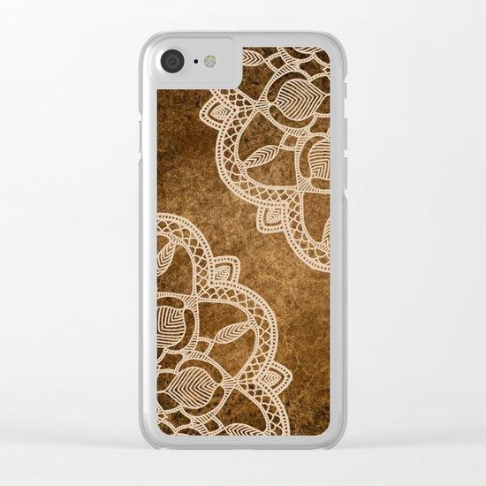 Coffee & Cream Clear iPhone Case