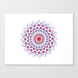 Dotty Mandala Canvas Print