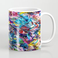 dark side of the moon Mugs featuring Dark Side of the Moon by Alyssa Underwood Contemporary Art