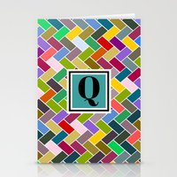 monogram Stationery Cards featuring Q Monogram by mailboxdisco