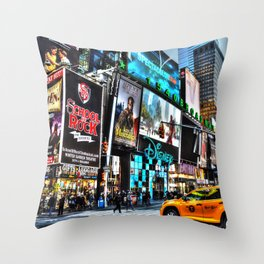 Times Square NY Throw Pillow