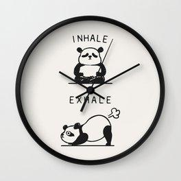 Inhale Exhale Panda Wall Clock
