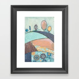 Jelly Bean Trees In A Field Framed Art Print