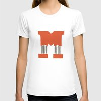 lettering T-shirts featuring M Lettering by Mallory Ming