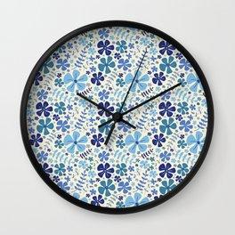 My Little Garden blue & green Wall Clock