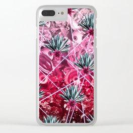Jungle Eye Grid Clear iPhone Case