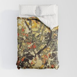 Jackson Pollock, digitally vectorised and filtered, fine art decor and clothing Comforters