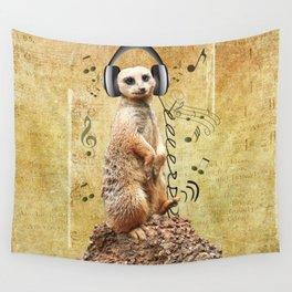 Jammin' Meerkat Wall Tapestry