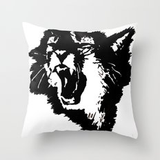 rattatat cat Throw Pillow