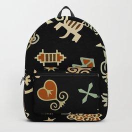 African Adinkra Symbols Backpack