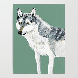 Totem Alberta Wolf Poster
