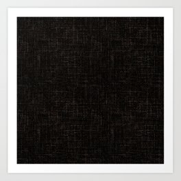 Textured black rough-woven. Art Print