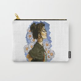 Daisies in blue Carry-All Pouch