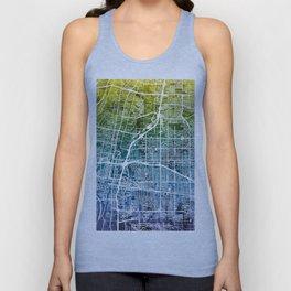 Albuquerque New Mexico City Street Map Unisex Tank Top