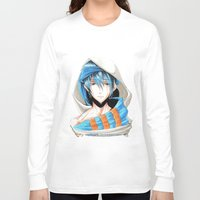 iwatobi Long Sleeve T-shirts featuring Free! Iwatobi Swim Club Haruka by Mistiqarts