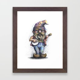 Hillbilly Gnome Framed Art Print