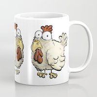 chicken Mugs featuring Chicken by Ky Betts