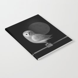 Barn Owl Full Moon Notebook