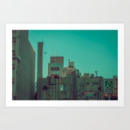 TOKYO CITY FLYING Art Print