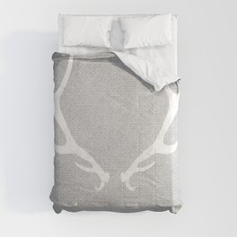 White & Grey Antlers Comforters