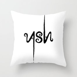 Leave only ASH Throw Pillow