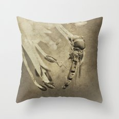 An Old Hoverfly Throw Pillow