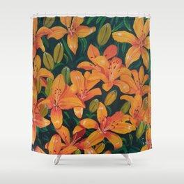 Daylilies in the Garden Shower Curtain