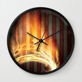 circle of fire Wall Clock