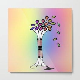VASE OF FRESH FLOWERS Metal Print