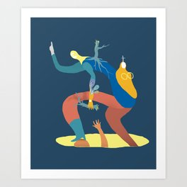 Caida Art Print