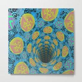 Colorpattern Hole Metal Print