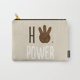 HiiiPower (w/text) : Chocolate Carry-All Pouch
