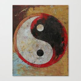 Yin Yang Dragon Canvas Print